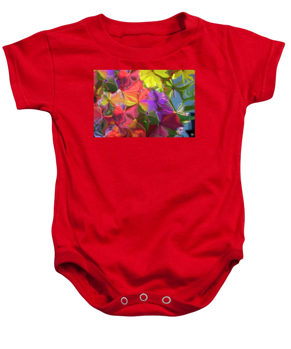 Flower Baby Onesie featuring the photograph Rainbow Bouquet by Wayne King