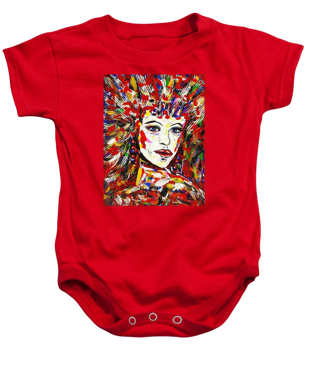 Abstract Art Baby Onesie featuring the painting Rainbow by Natalie Holland