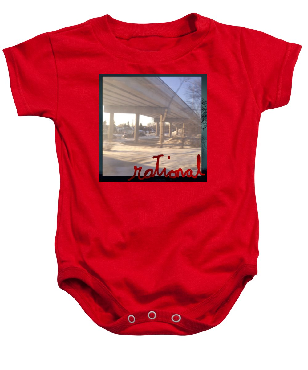 Rational Baby Onesie featuring the digital art Rational by Contemporary Luxury Fine Art