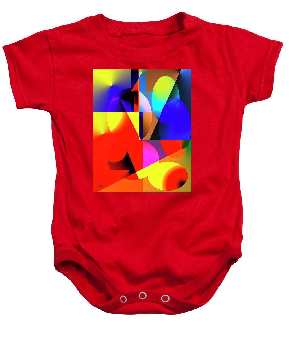 Abstract Baby Onesie featuring the digital art Read Me by Betsy Knapp