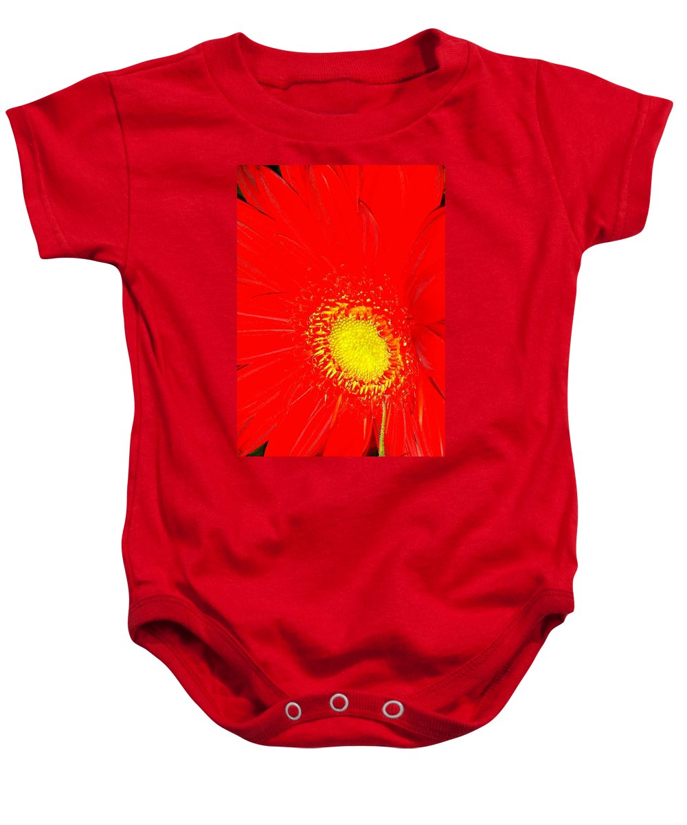 Flower Baby Onesie featuring the photograph Red by Kimberly Mohlenhoff