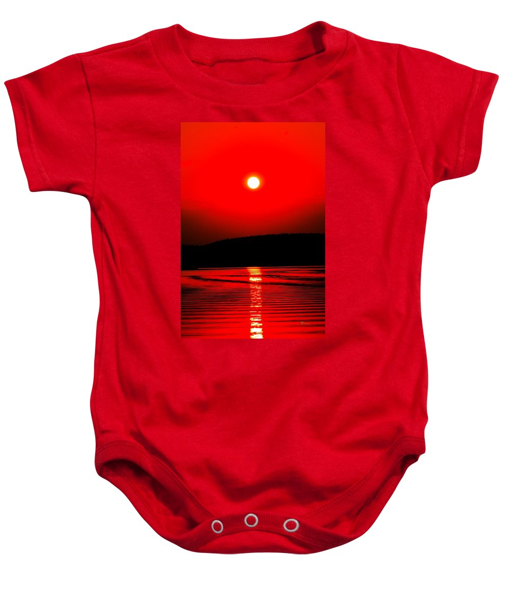Emotion Baby Onesie featuring the photograph Red Power by Max Steinwald