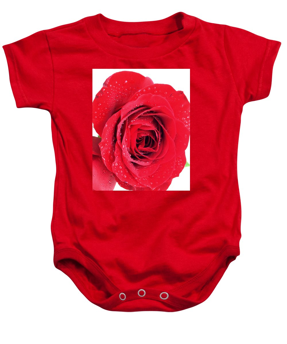 Red Rose Baby Onesie featuring the photograph Red Rose by Kathy M Krause