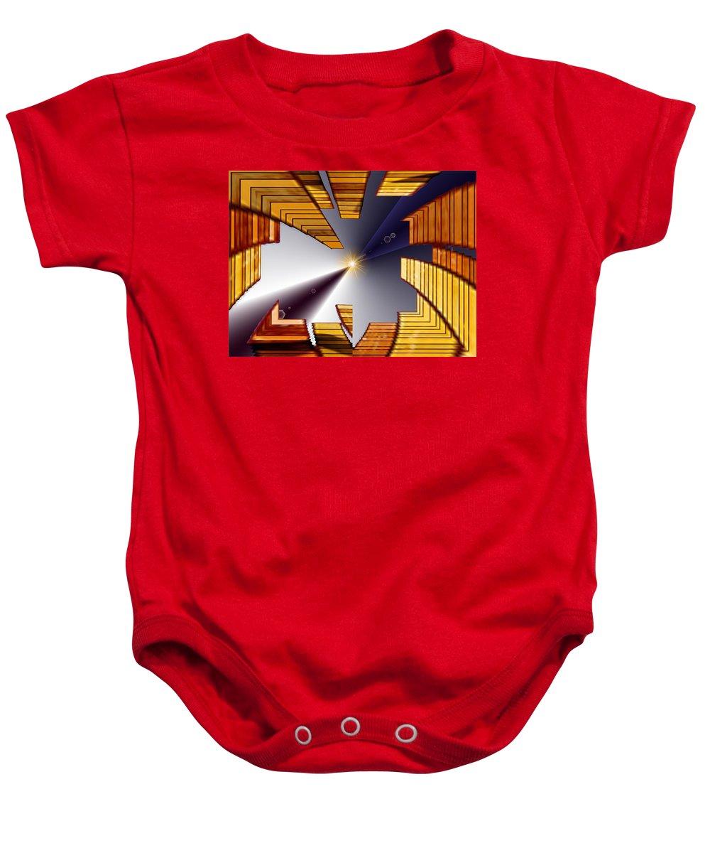 Seattle Baby Onesie featuring the digital art Reeds 3 by Tim Allen