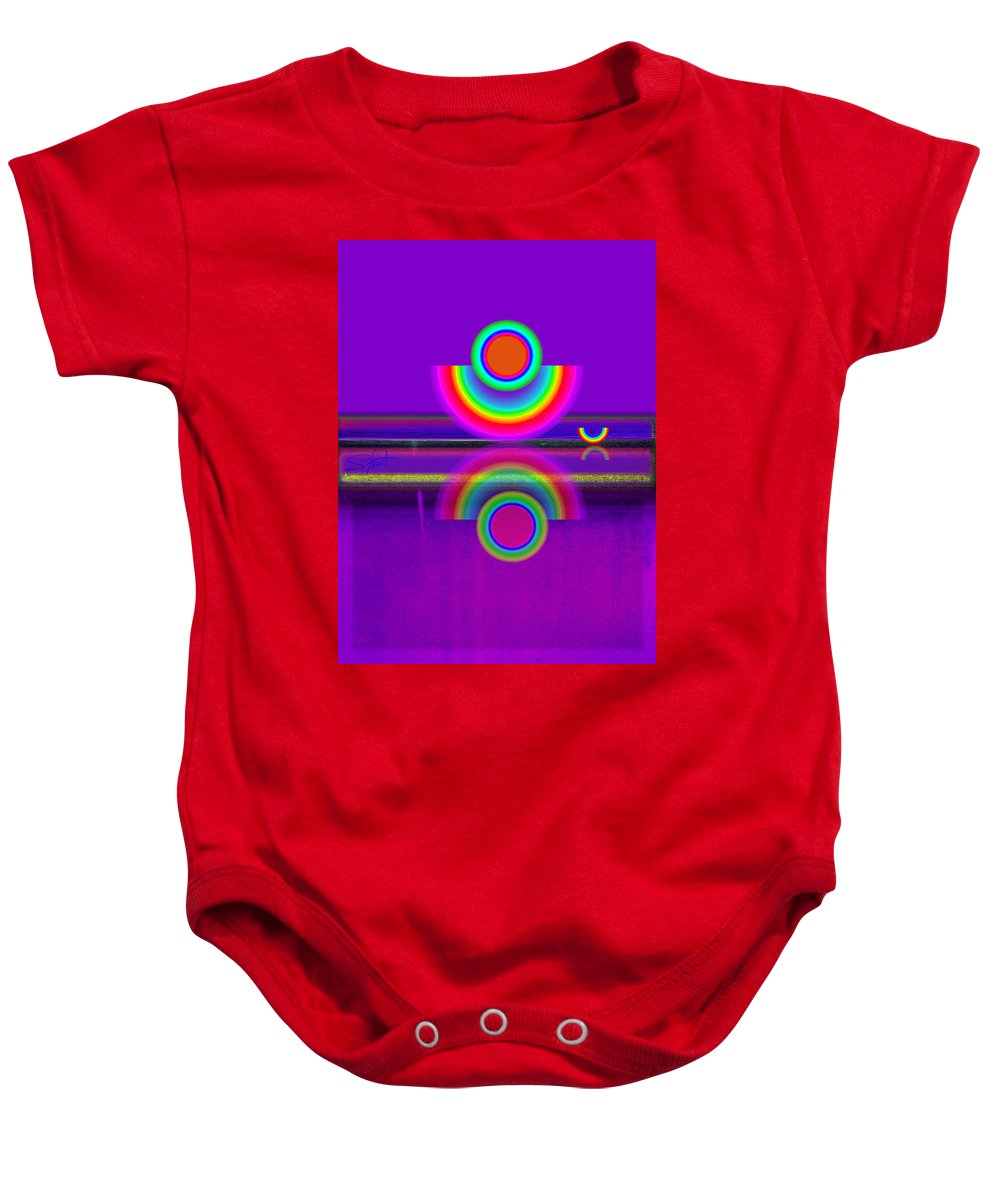 Reflections Baby Onesie featuring the painting Reflections On Mauve by Charles Stuart