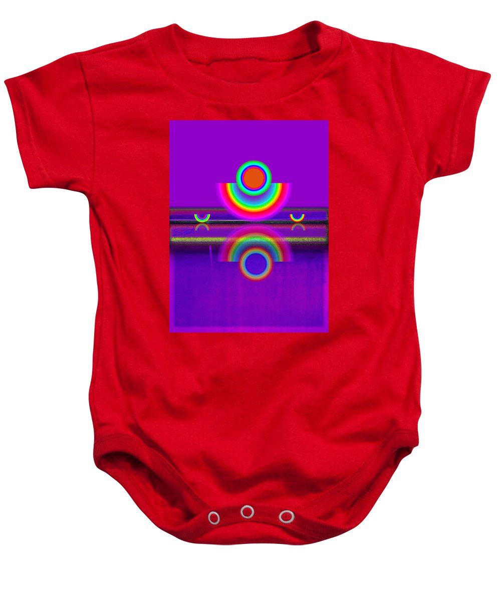 Reflections Baby Onesie featuring the painting Reflections On Violet by Charles Stuart
