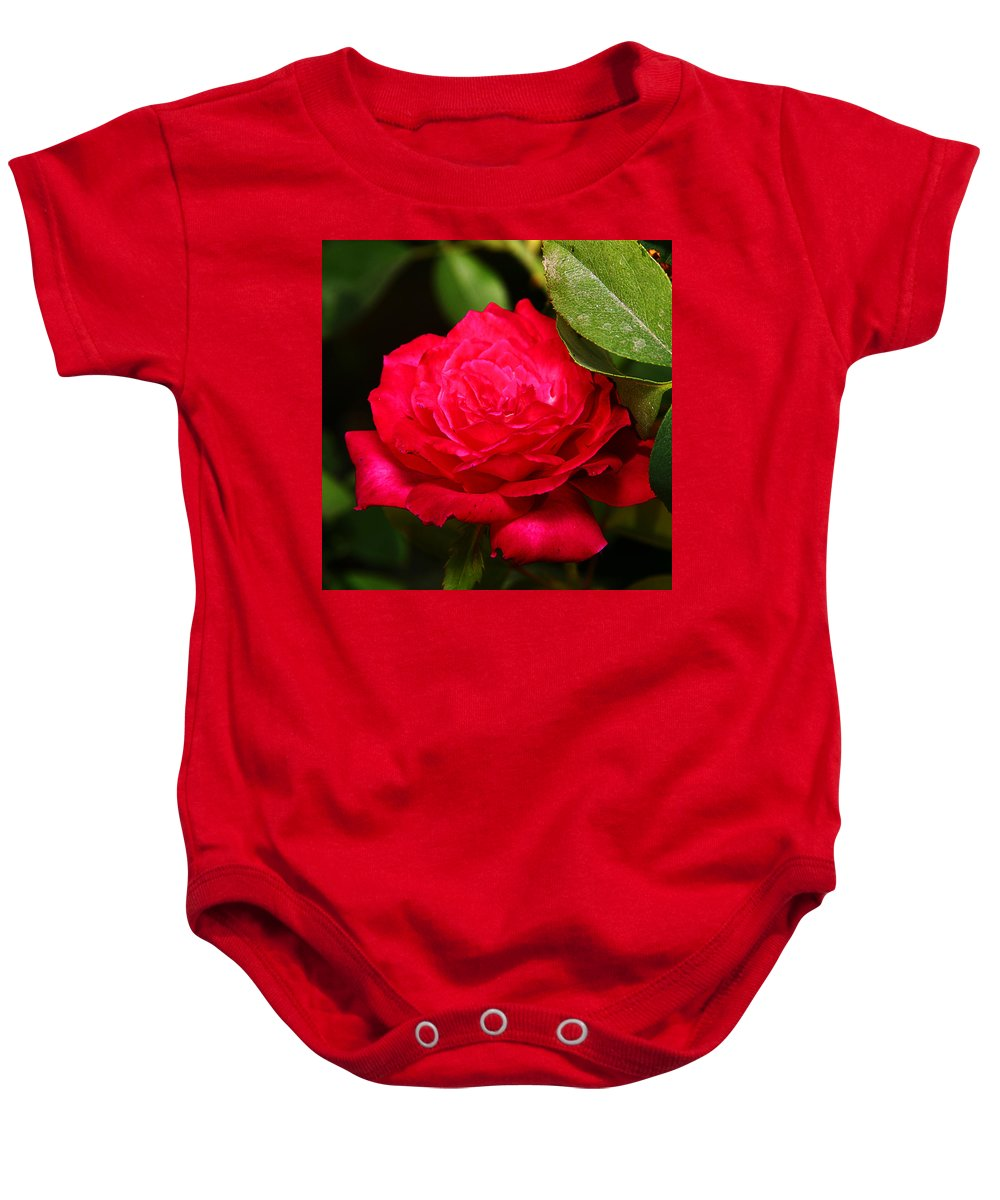 Flower Baby Onesie featuring the photograph Rose by Anthony Jones