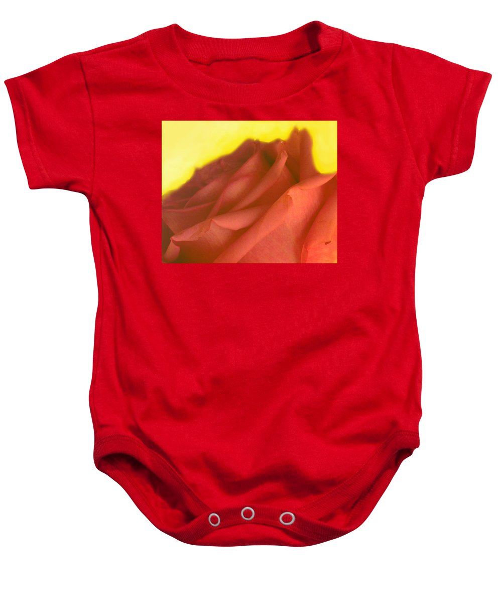 Rose Baby Onesie featuring the photograph Rose At Sunset by Ian MacDonald