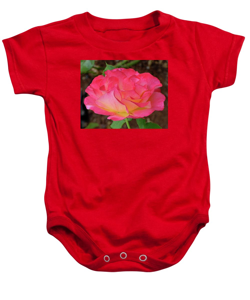 Pink Baby Onesie featuring the photograph Rose Blushing by Shirley Heyn