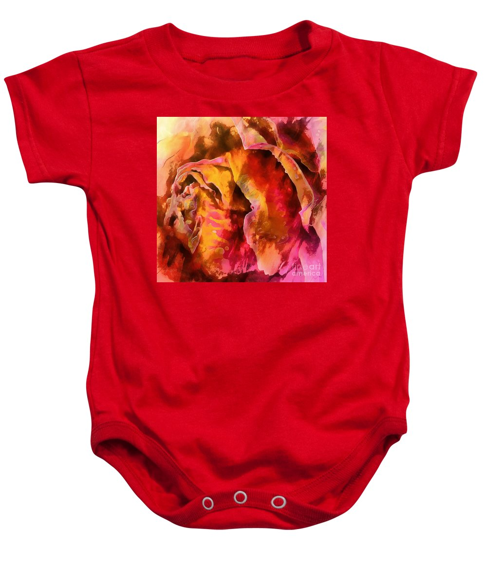 Rose Baby Onesie featuring the photograph Rose Of Passion by Krissy Katsimbras