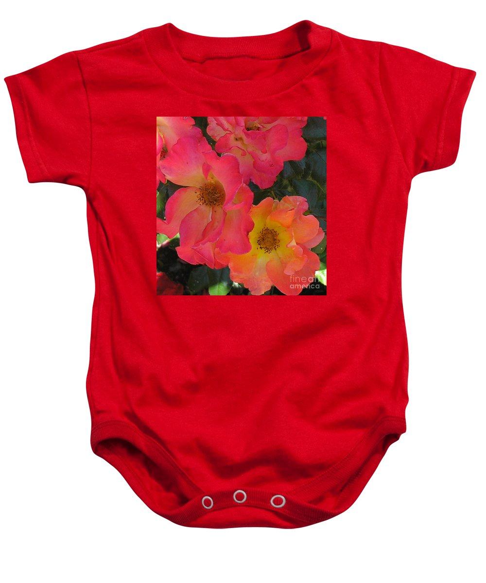 Rose Baby Onesie featuring the photograph Roses by Dean Triolo