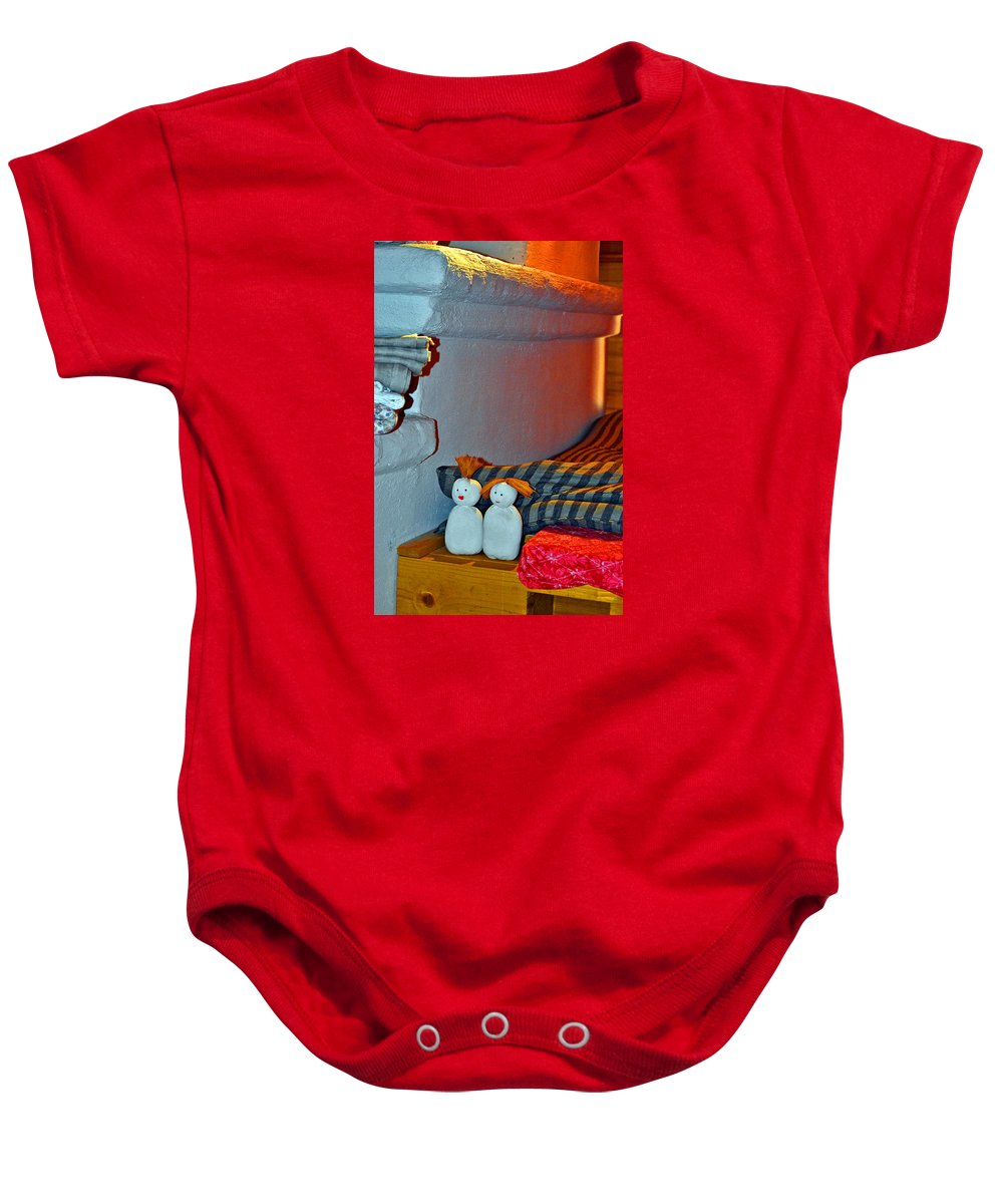 Mermaid-minx Baby Onesie featuring the photograph Russian Oven. Ancient Art. by Andy Za