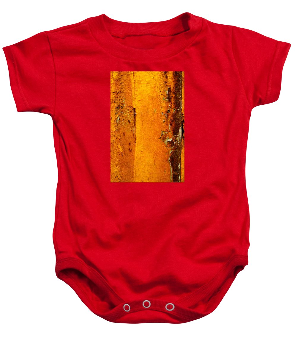 Rust Baby Onesie featuring the photograph Rust Abstract 2 by Lilia D