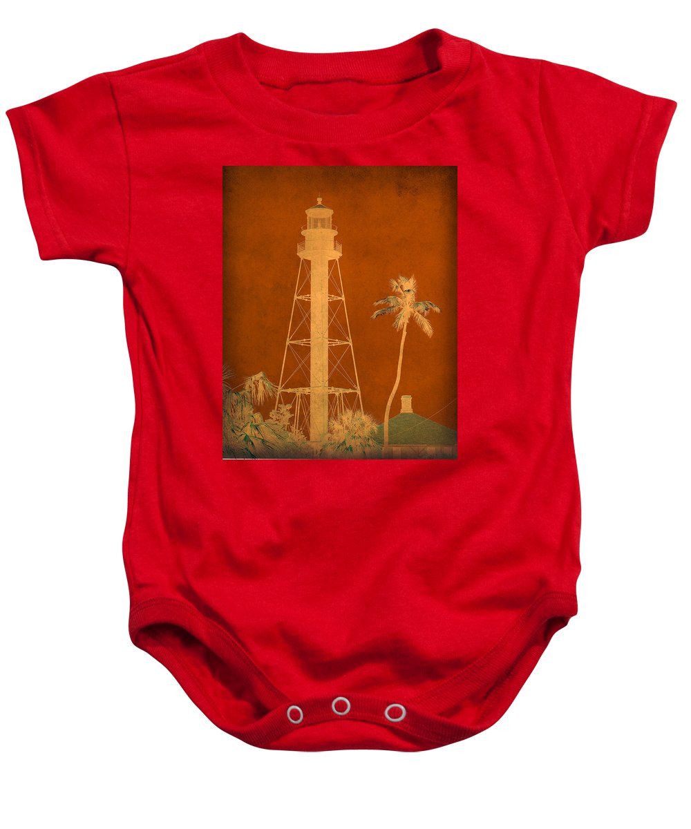 Sanibel Baby Onesie featuring the photograph Sanibel Island Lighthouse by Trish Tritz