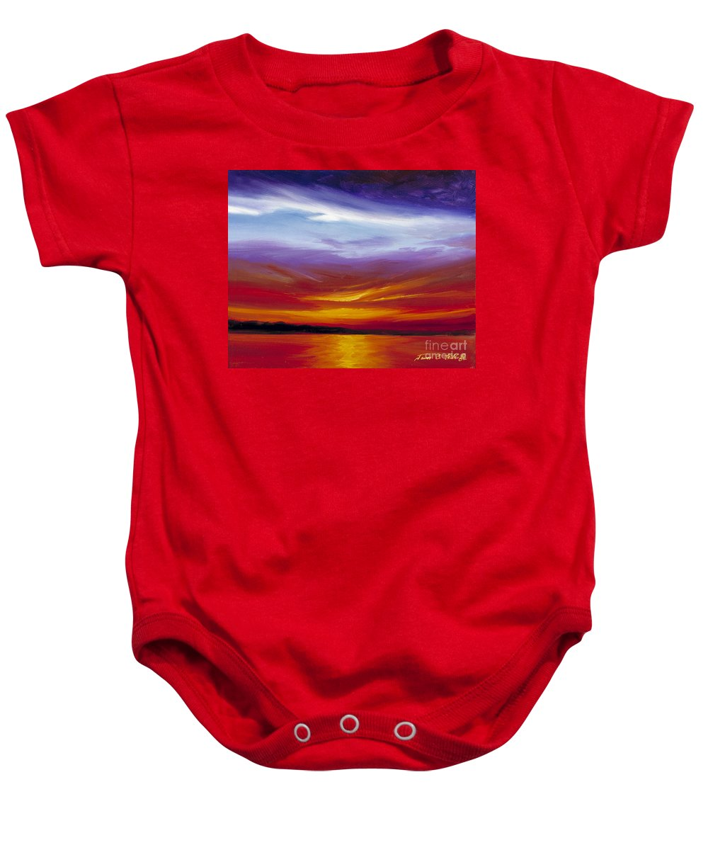 Skyscape Baby Onesie featuring the painting Sarasota Bay I by James Christopher Hill
