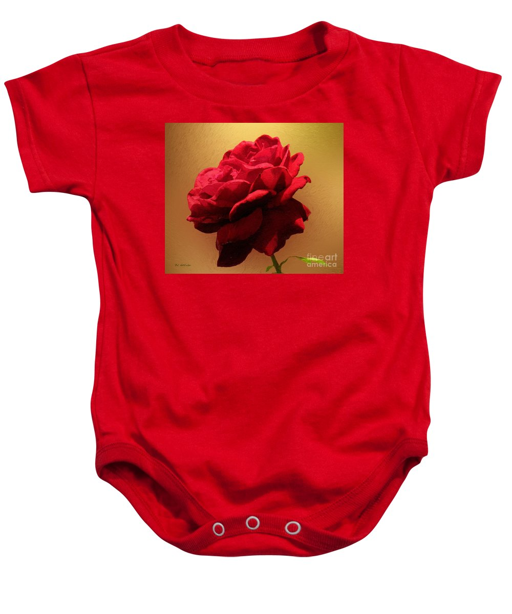 Red Rose Baby Onesie featuring the painting Scarlet Flamenco by RC DeWinter