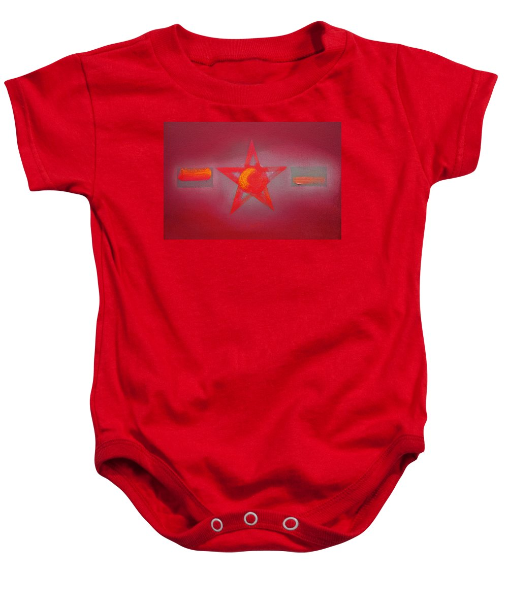 Usaaf Baby Onesie featuring the painting Scarlet Vermillion by Charles Stuart
