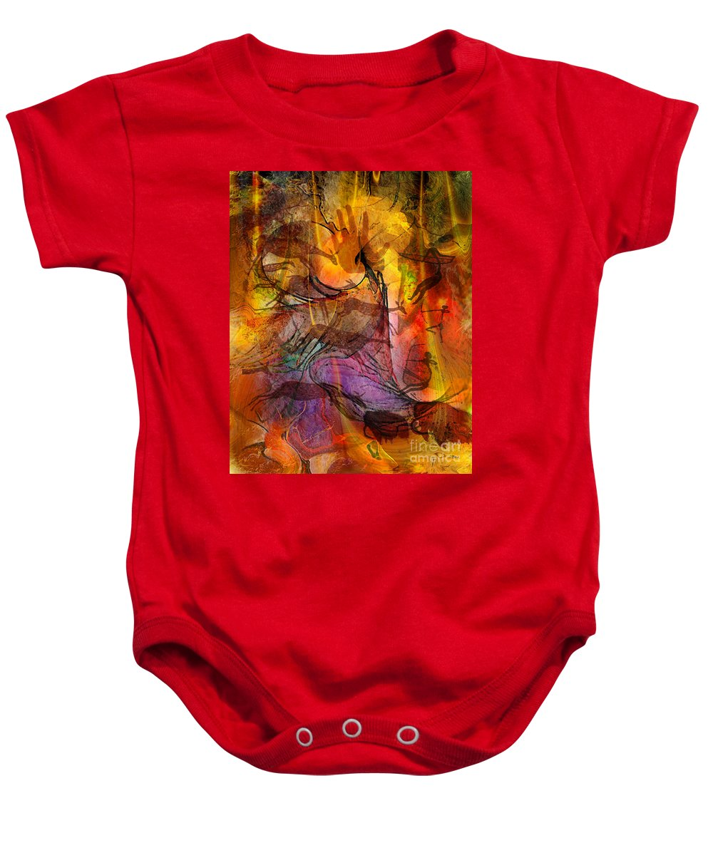 Shadow Hunters Baby Onesie featuring the digital art Shadow Hunters by John Beck