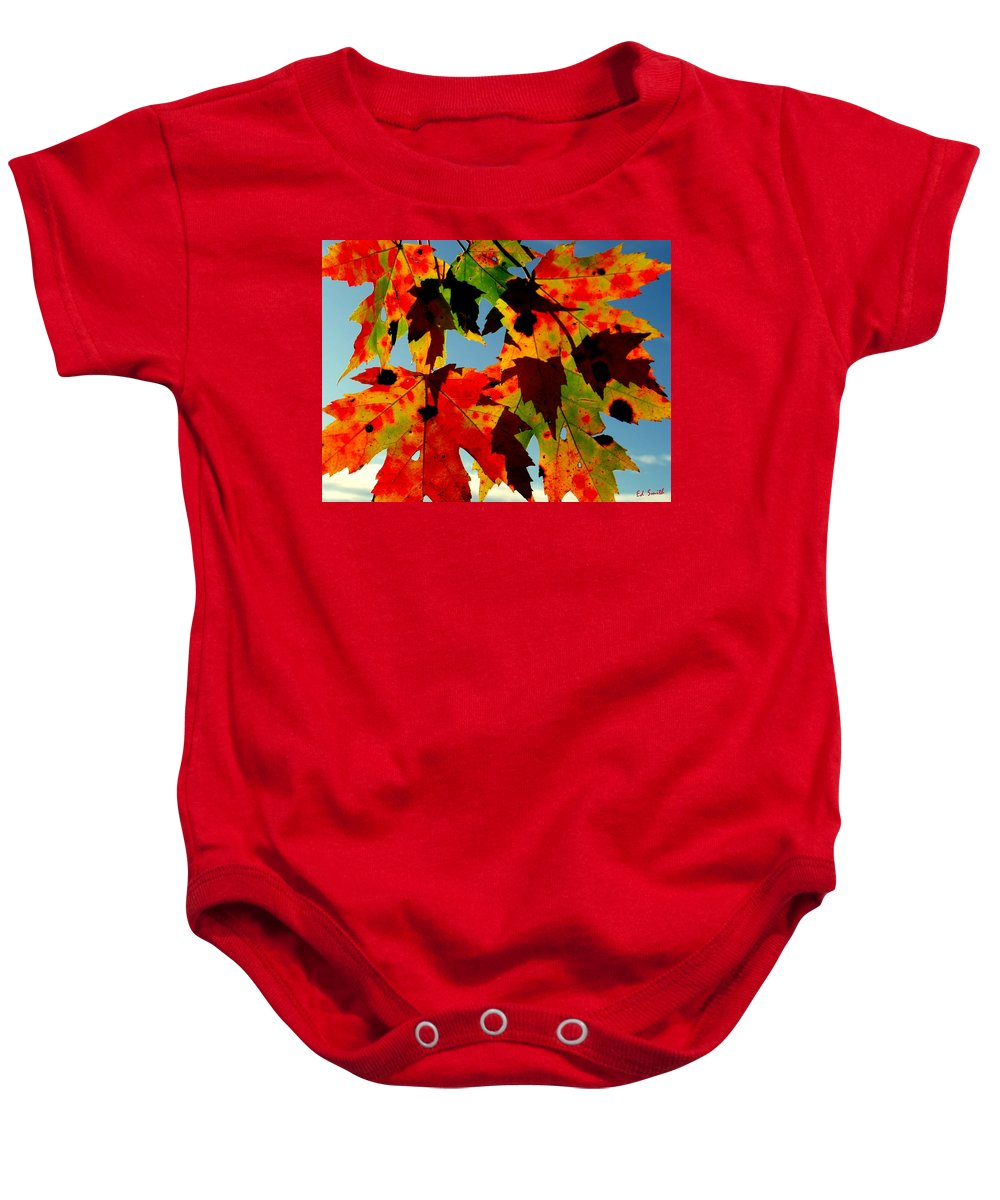 Shadow Play Baby Onesie featuring the photograph Shadow Play by Ed Smith