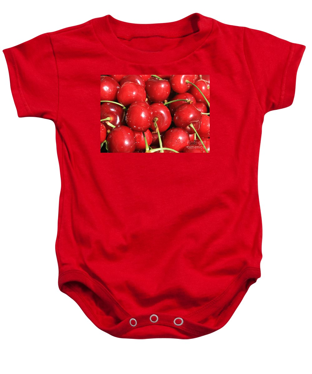 Cherries Baby Onesie featuring the photograph Simply Cherries by Carol Groenen