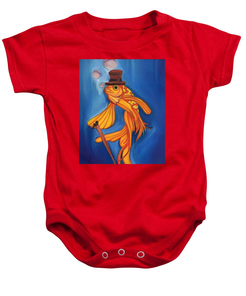 Fish Baby Onesie featuring the painting Sir I Have A Grievance by Mary Anne Rudersdorf