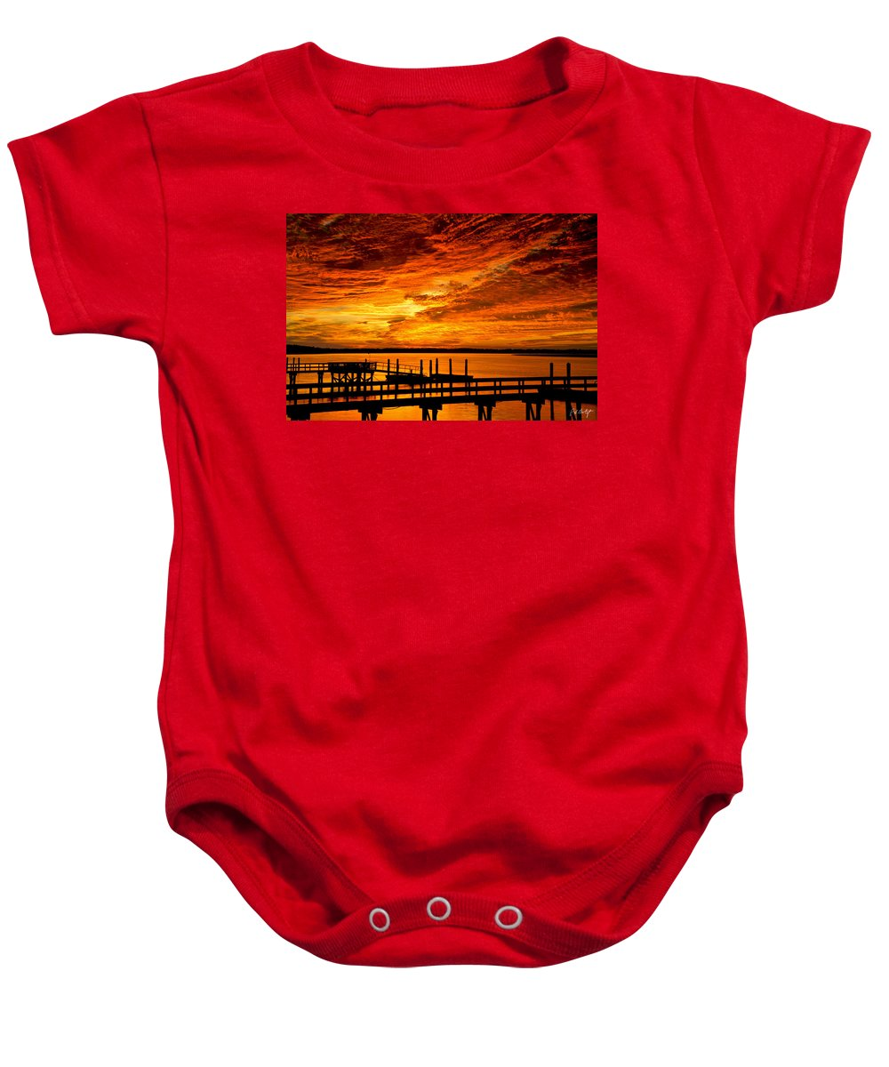 Landscape Baby Onesie featuring the photograph Sky Drama by Phill Doherty
