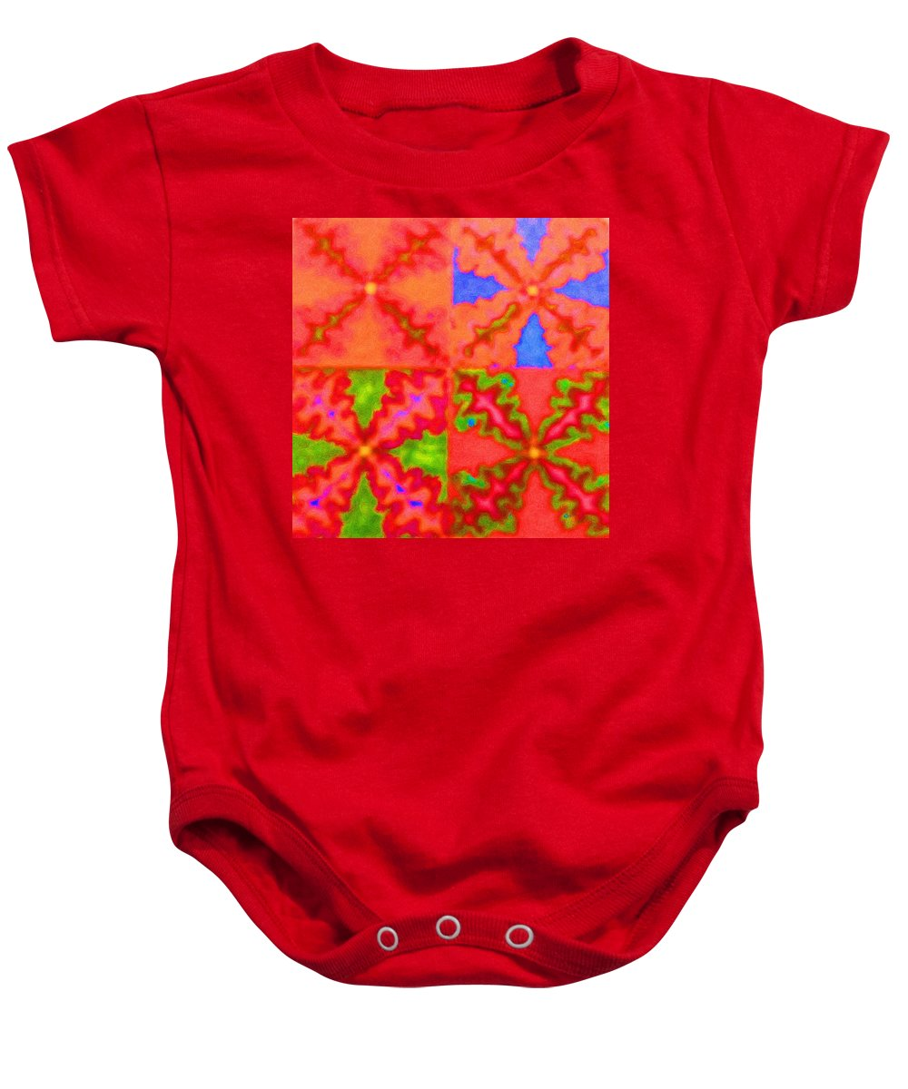 Snake Baby Onesie featuring the digital art Snakey by April Patterson