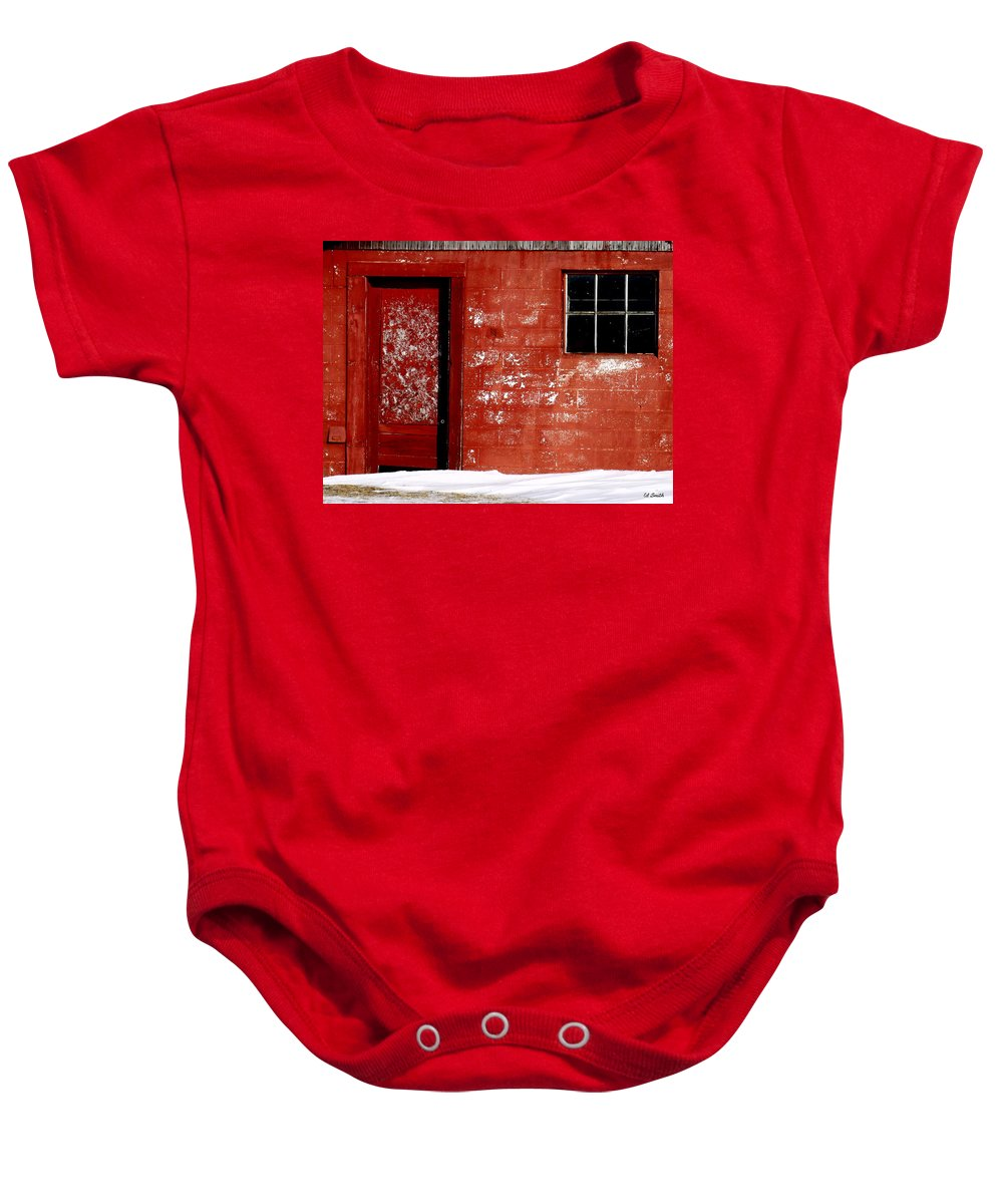 Snowed In Baby Onesie featuring the photograph Snowed In by Ed Smith