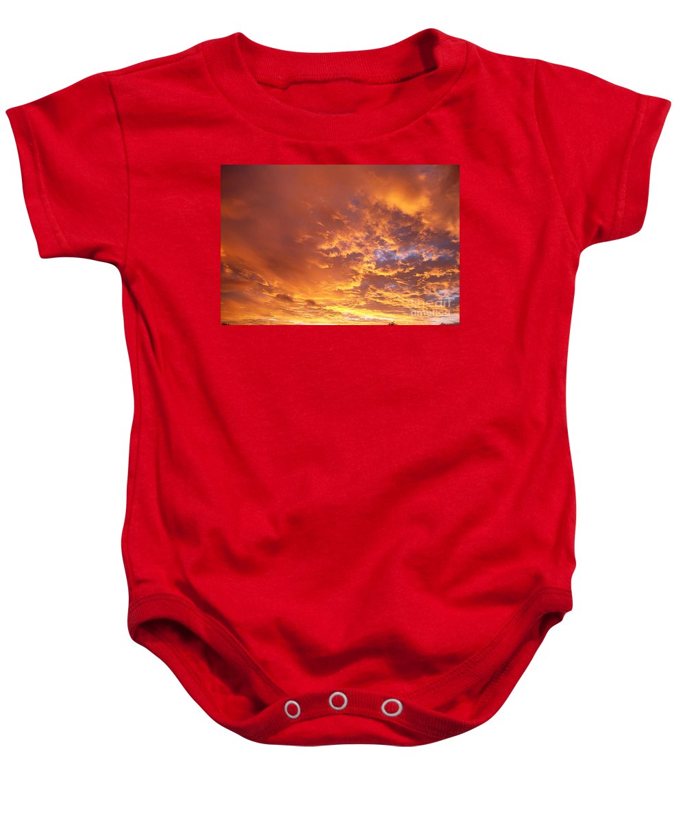 C1740 Baby Onesie featuring the photograph Spectacular Sunrise by Mary Van de Ven - Printscapes