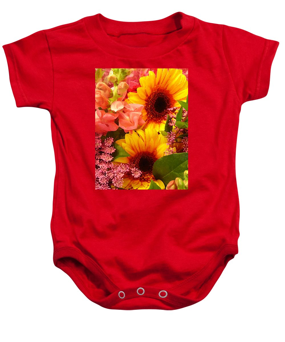 Roses Baby Onesie featuring the photograph Spring Bouquet 1 by Amy Vangsgard