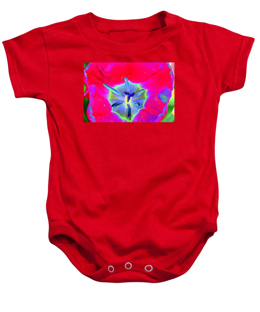 Tulip Baby Onesie featuring the photograph Spring Tulips - Photopower 3167 by Pamela Critchlow