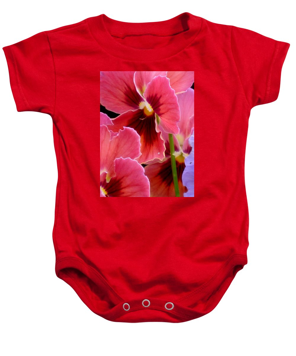 Floral Baby Onesie featuring the photograph Stained Glass by Marla McFall