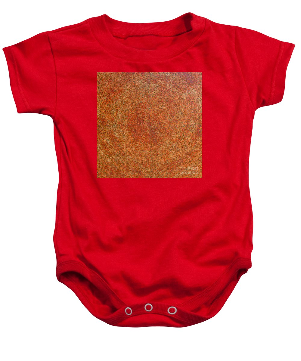 Abstract Baby Onesie featuring the painting Su Gaia Earth by Dean Triolo