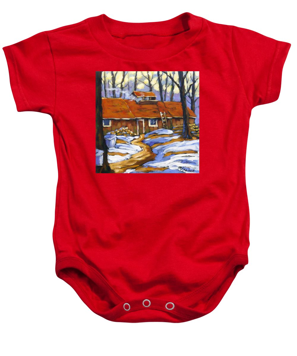 Sugar Shack Baby Onesie featuring the painting Sugar Time by Richard T Pranke