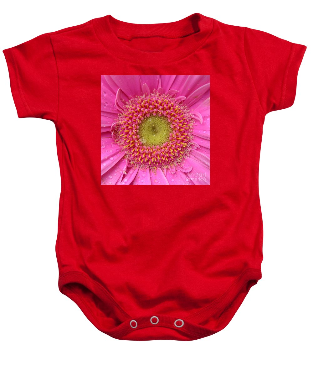 Pink Flower Baby Onesie featuring the photograph Summer Glory by Carol Groenen