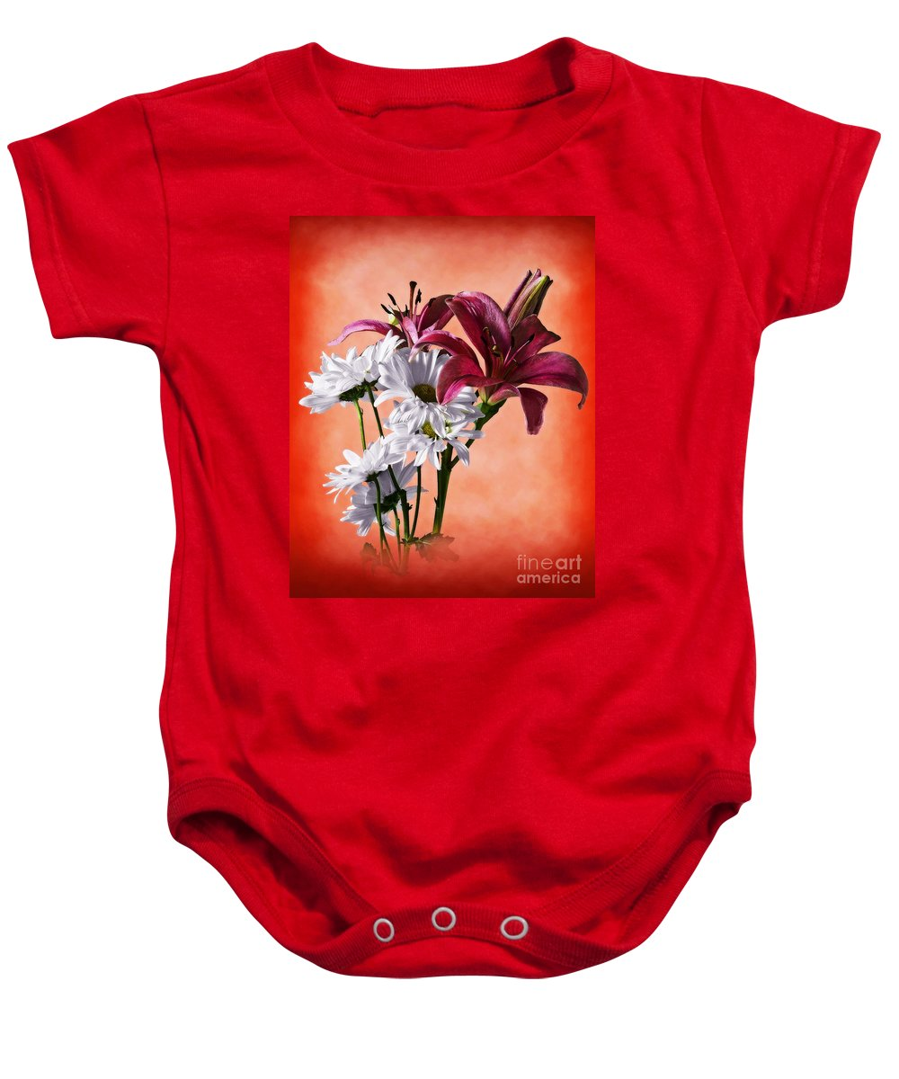 Botanical Baby Onesie featuring the photograph Summer Wild Flowers by Ed Churchill