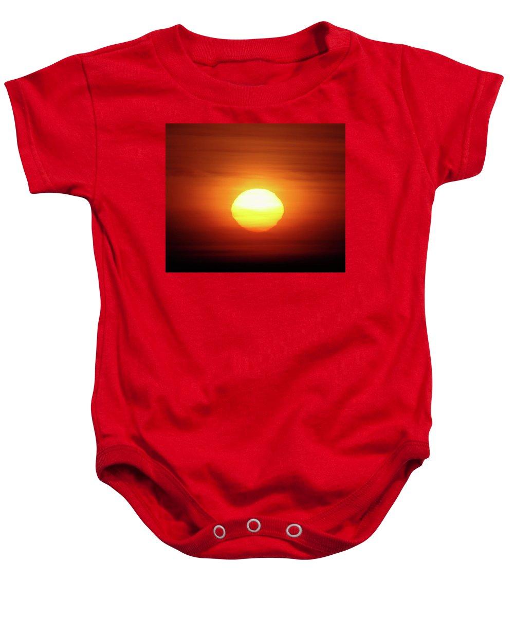 Sunrsie Baby Onesie featuring the photograph Sunrise In Othello by Jeff Swan