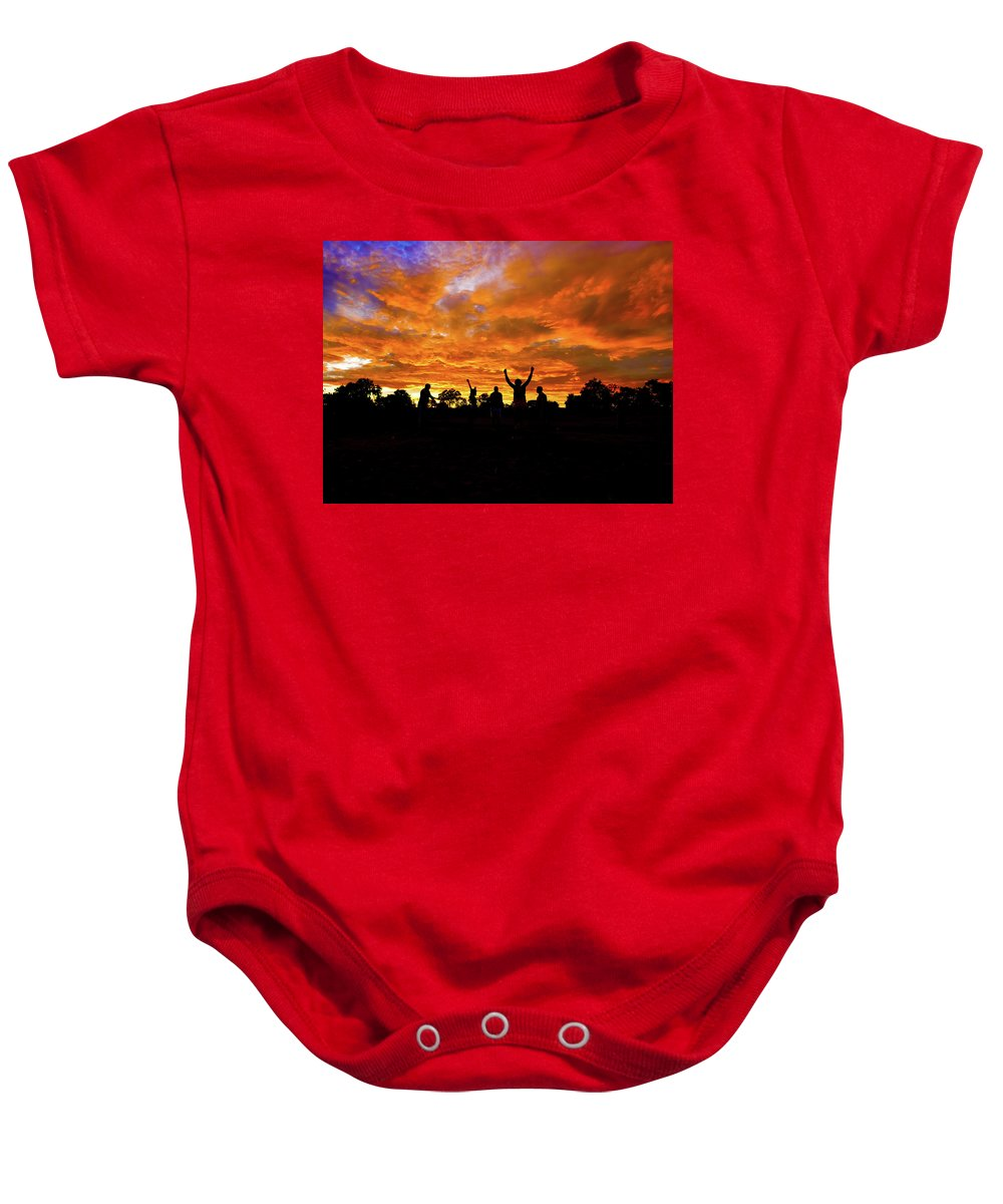 Picturesque Baby Onesie featuring the photograph Sunrise Landscape In Tanzania by Marek Poplawski