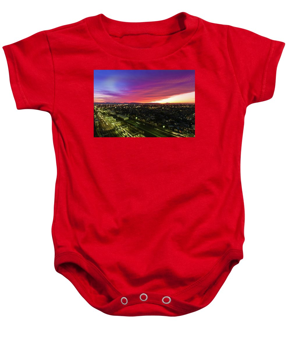 Japan Baby Onesie featuring the photograph Sunset Colors by Ferruh Baran