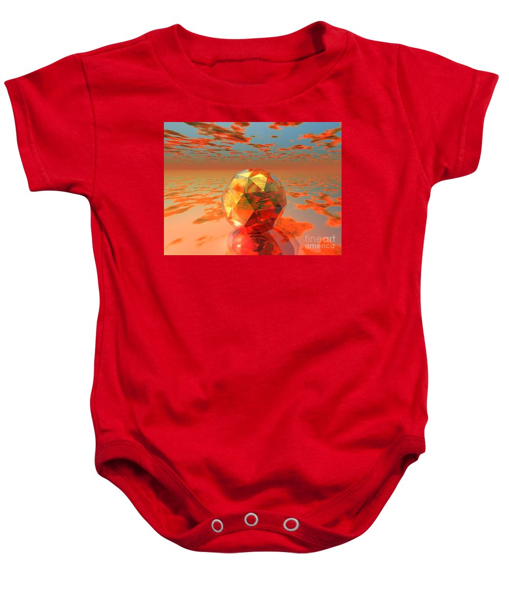 Surreal Baby Onesie featuring the digital art Surreal Dawn by Oscar Basurto Carbonell