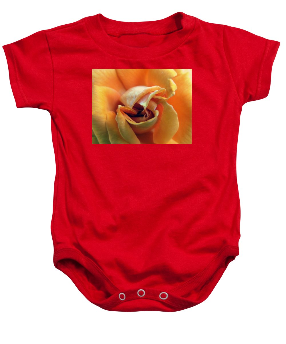 Rose Baby Onesie featuring the photograph Sweet Seduction by Karen Wiles
