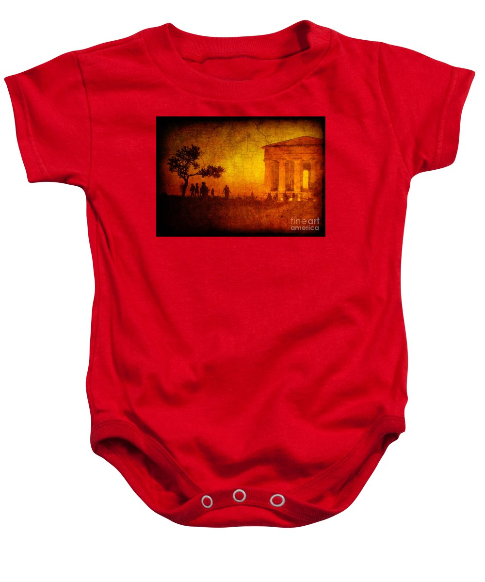 Temple Baby Onesie featuring the photograph Temple by Silvia Ganora
