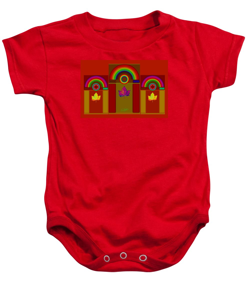 Classical Baby Onesie featuring the digital art Terracota Classic by Charles Stuart