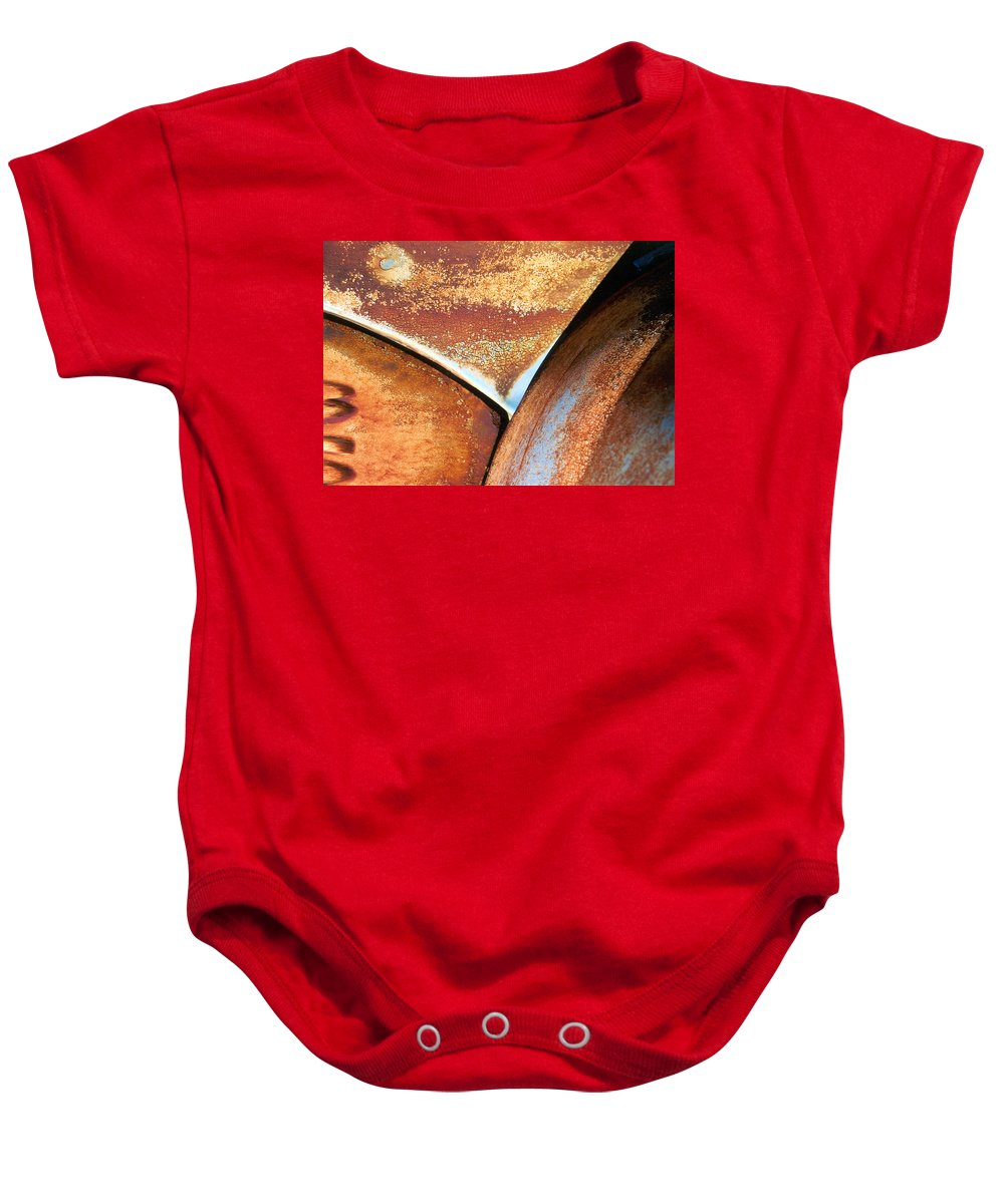 Abstract Baby Onesie featuring the photograph The Feminine Mystique by Steve Karol
