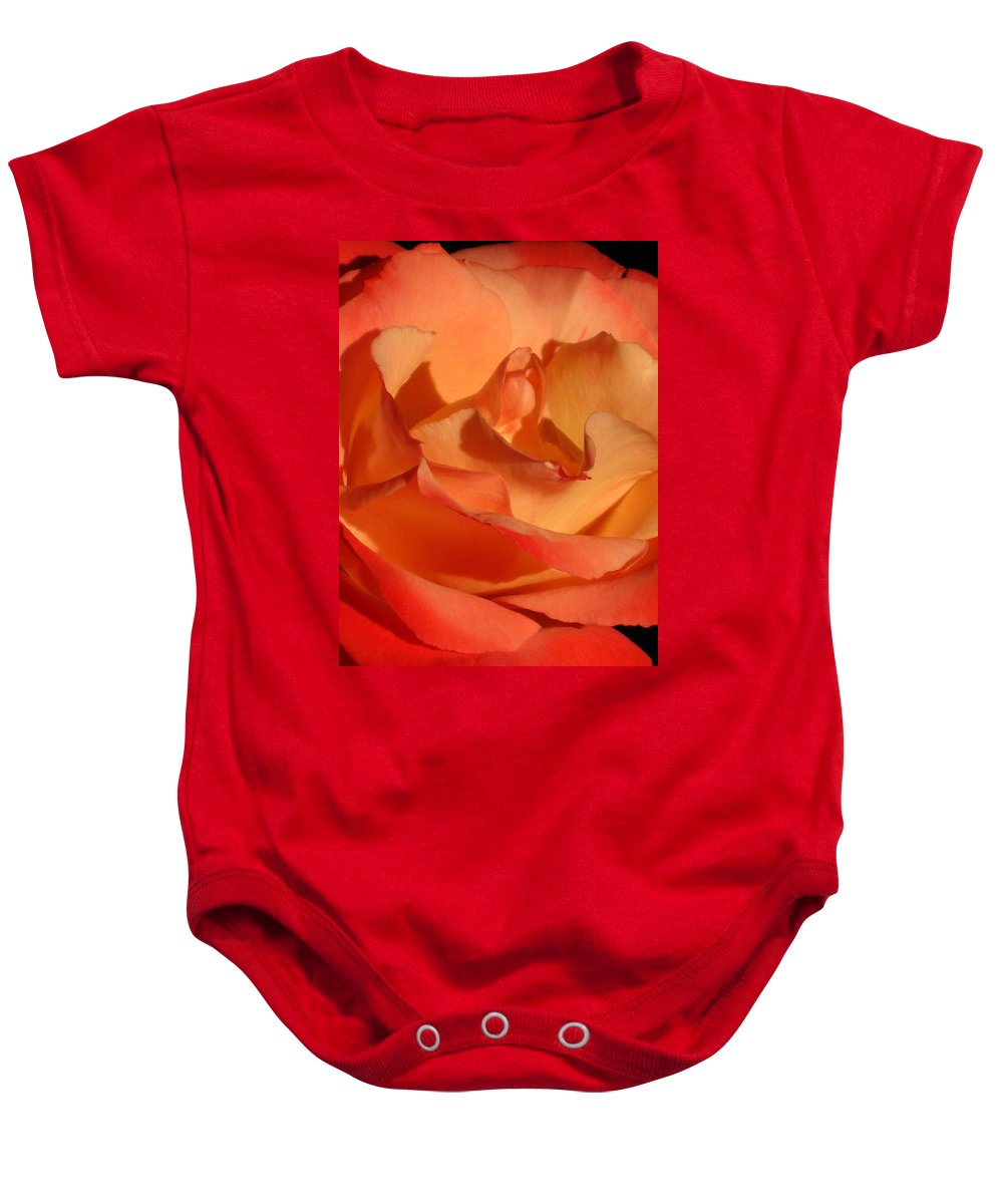Rose Baby Onesie featuring the photograph The Final Rose Of Summer by Marla McFall