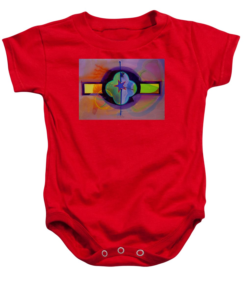 Star Baby Onesie featuring the painting The Happy American by Charles Stuart