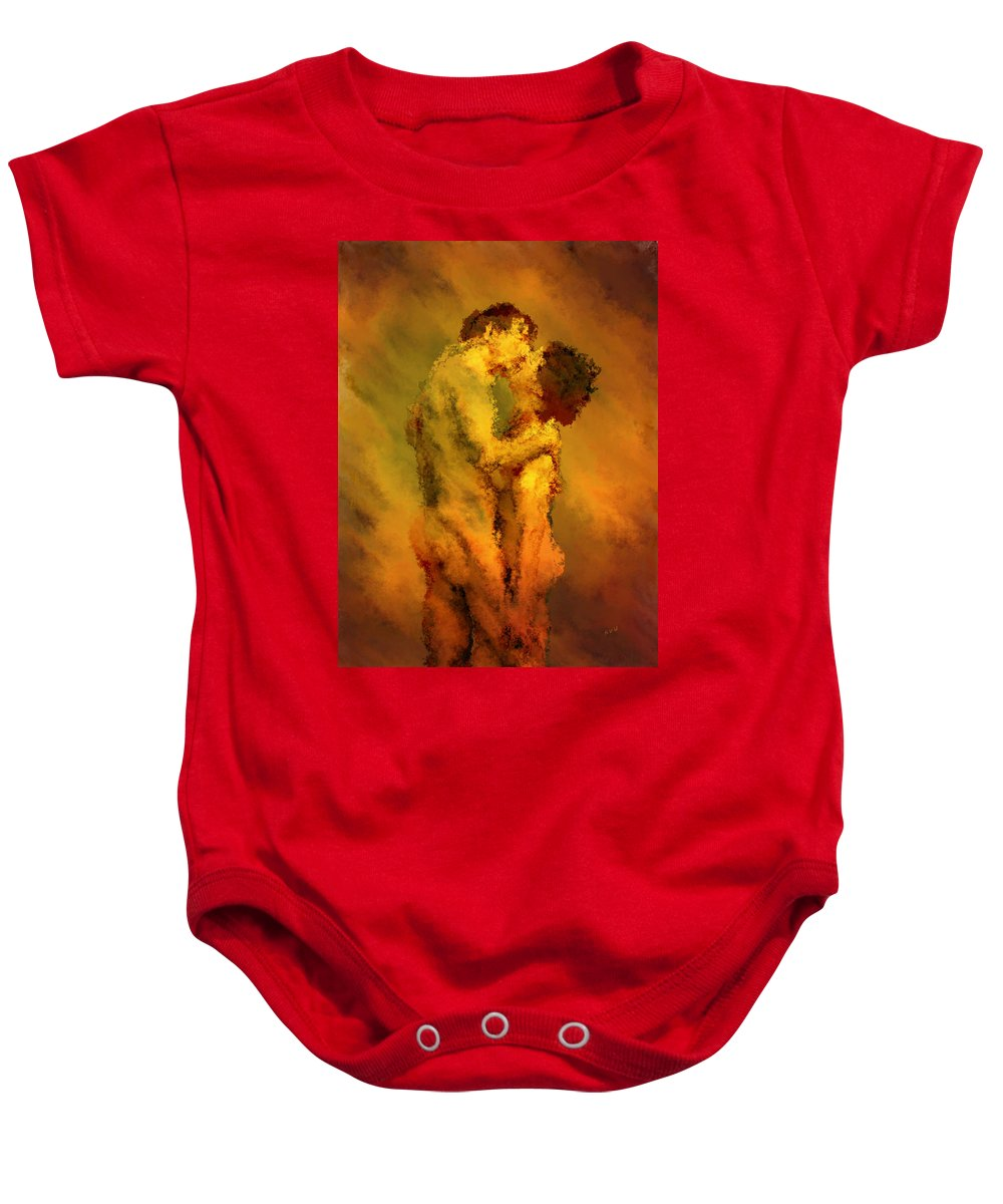 Nudes Baby Onesie featuring the photograph The Kiss by Kurt Van Wagner