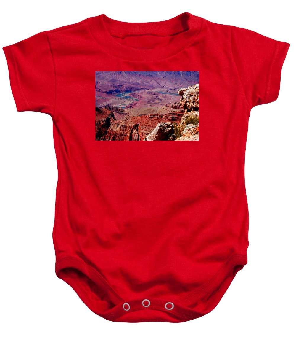 Grand Canyon Baby Onesie featuring the photograph The Path Of The Colorado River by Susanne Van Hulst
