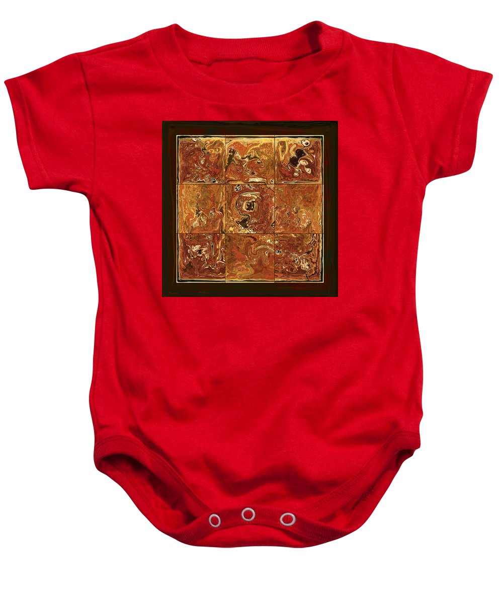 Abstract Baby Onesie featuring the digital art The Pieces by Rabi Khan