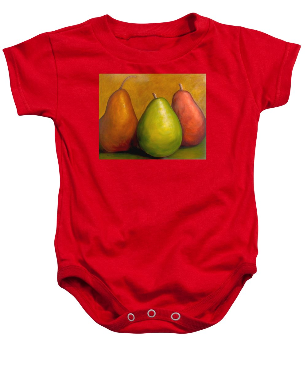 Brown Baby Onesie featuring the painting The Three Amigos by Shannon Grissom